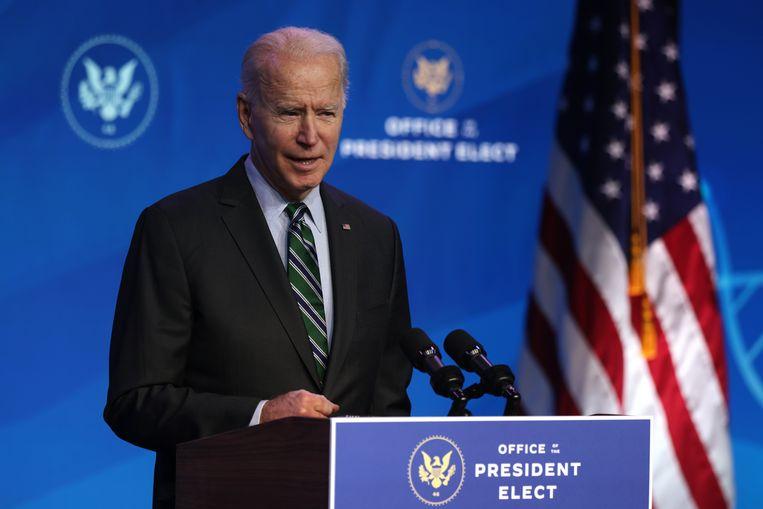 Joe Biden wordt woensdag officieel geïnaugureerd als nieuwe president van de VS, vanaf dan zal hij de presidentiële bevelen uitvaardigen Beeld Getty Images