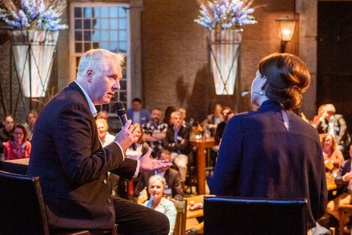 Voorzitter Henri Verhagen van MetWerk tijdens de lancering van de stichting afgelopen donderdag in Geertruidenberg.