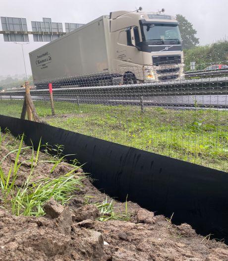 Dit hek langs de N3 zorgt ervoor dat overstekende dieren geen wisse dood tegemoet gaan