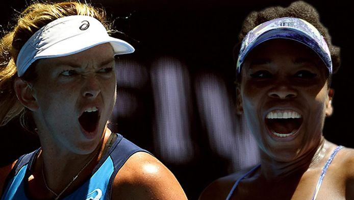 Coco Vandeweghe en Venus Williams.