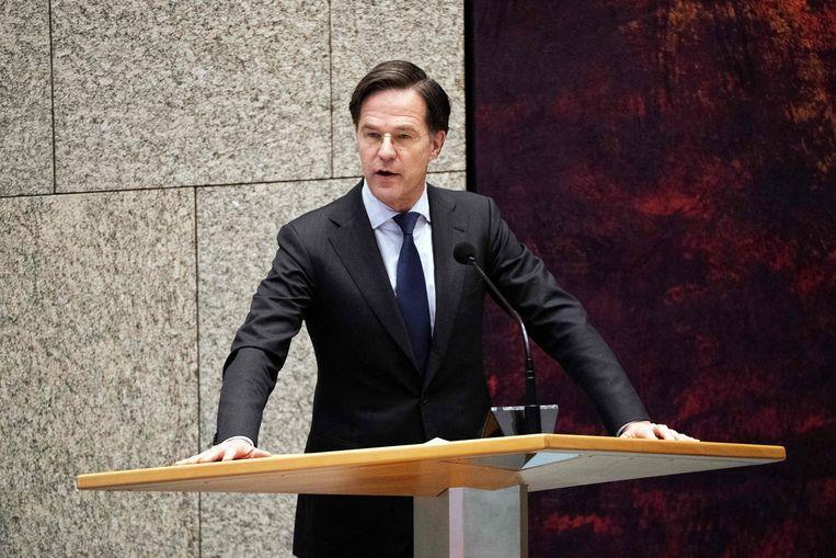 Mark Rutte moet zich in de Tweede Kamer verantwoorden. Beeld AFP