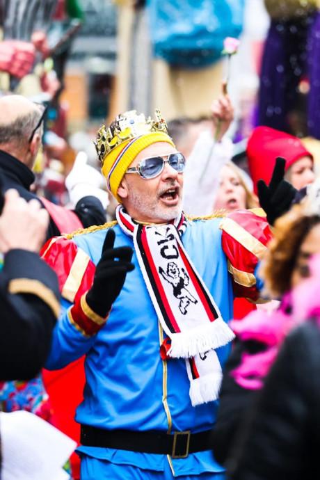 Weer of geen weer: de carnavalsoptocht in Dordrecht ging door en zo zag dat eruit
