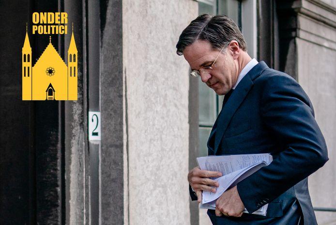 Mark Rutte (VVD) arriveert op het Binnenhof voor een tweede gesprek met informateur Herman Tjeenk Willink.