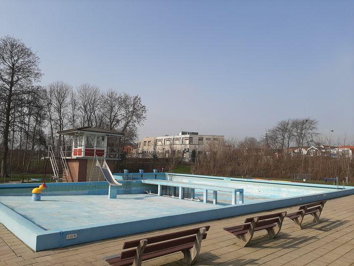 Zwembad Haestinge in het voorjaar van 2021.