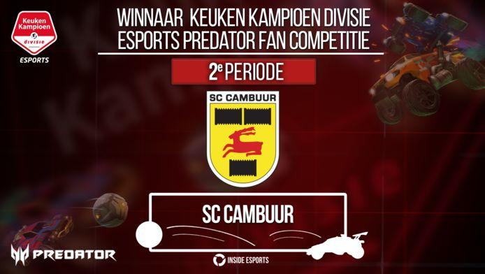 Cambuur Leeuwarden heeft de tweede periodetitel van de Keuken Kampioen Divisie Esports Predator Fan Competitie gewonnen.
