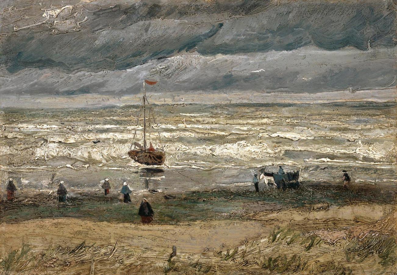 Het zeegezicht bij Scheveningen (1882)