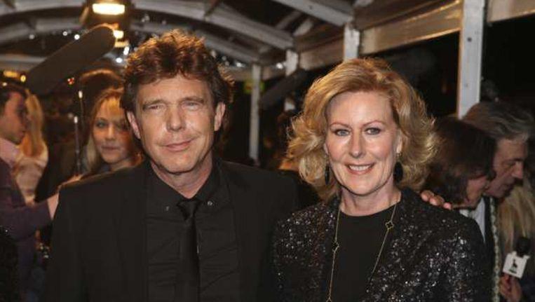 John de Mol en zijn vrouw bij de premiere van de film Gooische Vrouwen in maart. © ANP Beeld