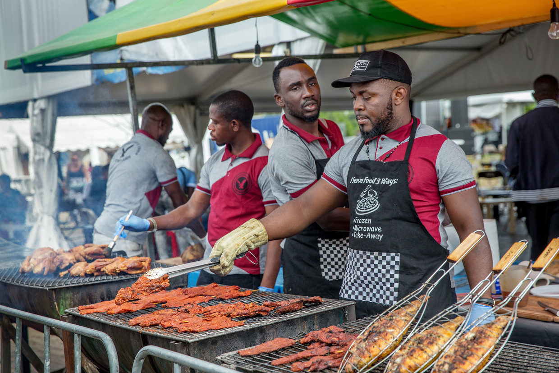 De laatste dag van het Kwaku Summer Festival in het Nelson Mandelapark. Beeld Jean-Pierre Jans
