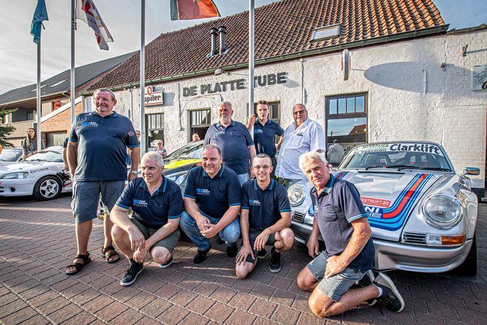 Het bestuur van de TBR Rallysprint met vooraan Rik Clinckemaillie, Johan Vyaene, Lieven Dutry, Bart de Clercq, Dirk Casteleyn. en achteraan Donald Six, Hans Degryse en Luc Callewaert.