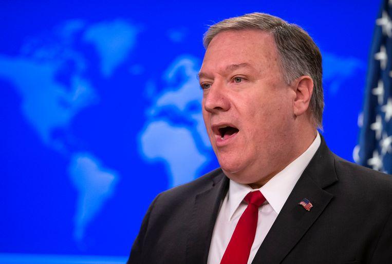 Amerikaans minister van Buitenlandse Zaken Mike Pompeo maakte de beslissing vandaag bekend tijdens een persconferentie.