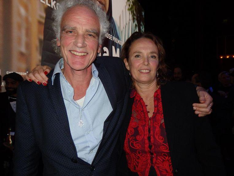 Het echtpaar van de avond: scenarioschrijver Jan Eilander en regisseur Mijke de Jong. Eilander: 'Is dit nou die comedy die we gingen maken?' Beeld Schuim
