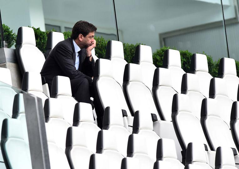 Juventus-voorzitter Andrea Agnelli ziet het niet meer zitten. Beeld REUTERS