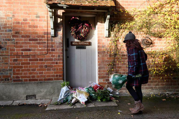 Bloemen bij het huis van George Michael in Oxfordshire Beeld getty