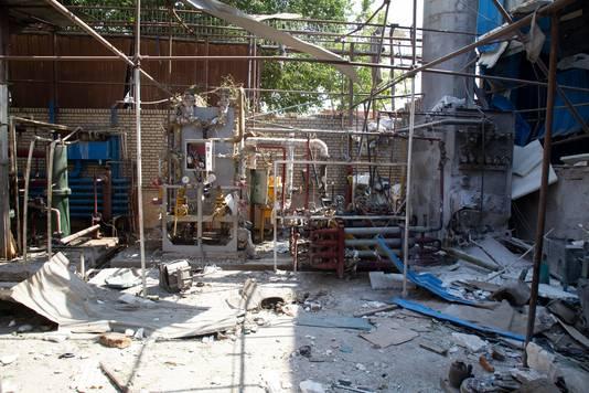 Officiële beelden van de explosie op 7 juli, nabij Teheran.