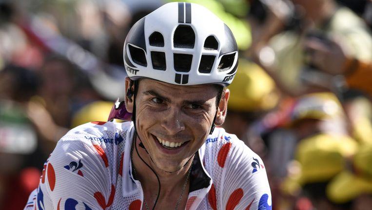Warren Barguil kroonde zich tot bergkoning in de Tour. Beeld afp