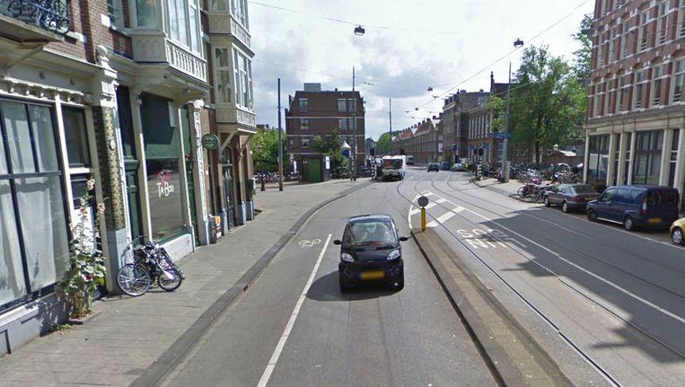 De Korte Marnixstraat vlakbij het Haarlemmerplein. © Google Streetview Beeld