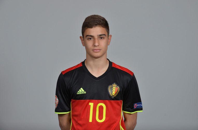De Belgische jeugdinternational Franco Antonucci gaat voor AS Monaco spelen Beeld UEFA/KBVB