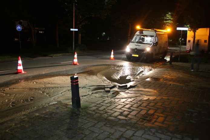De plek waar in de nacht van vrijdag op zaterdag in Nijverdal wateroverlast ontstond.