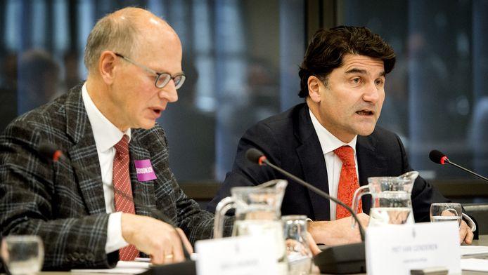 Piet van Genderen, Radardeskundige Universiteit Delft en Paul Riemens, CEO Luchtverkeersleiding Nederland (LVNL) tijdens de hoorzitting over de beleidsreactie op de onderzoeksrapporten over de MH17.