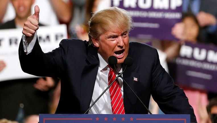 Trump sprak eerder al in Phoenix, maar dan nog als presidentskandidaat, hier in juli 2015. Beeld ap