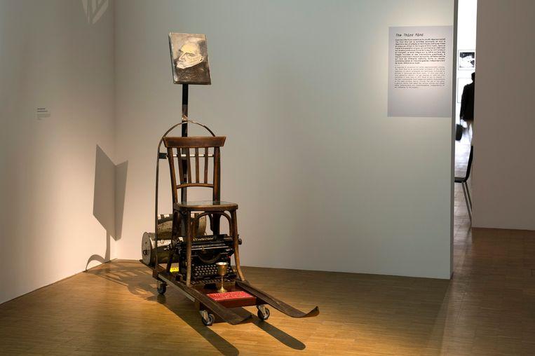 De typemachine waarop Kerouac in drie weken On the Road tikte. Beeld BELGAIMAGE