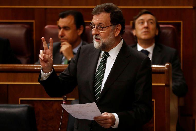 De Spaanse premier Mariano Rajoy.  Beeld REUTERS