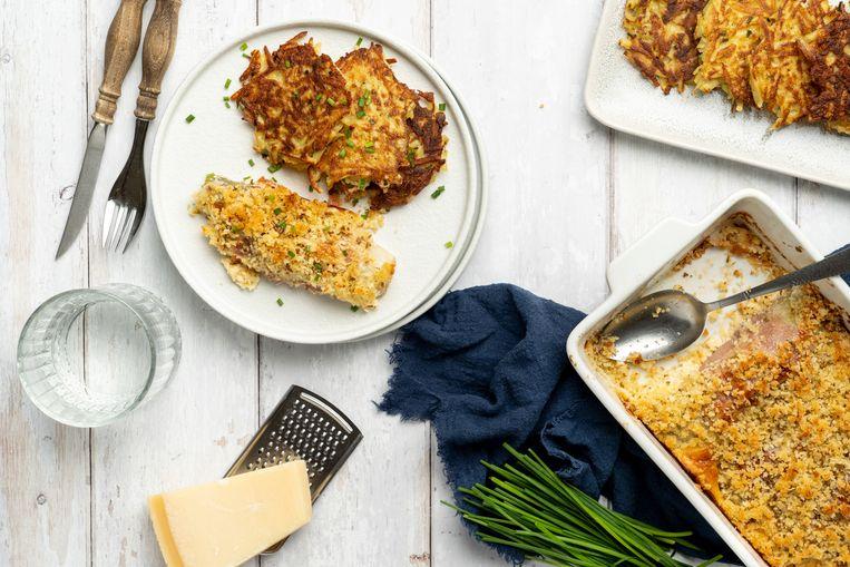 Witlof met Parmezaanse kaas en parmaham. Beeld