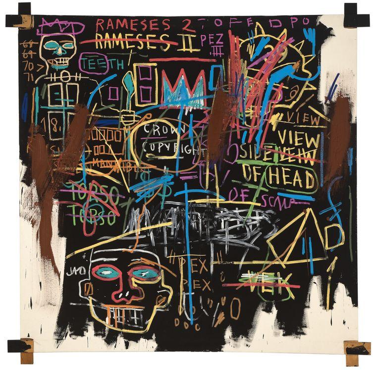 Jean-Michel Basquiat Kings of Egypt II, 1982 Beeld