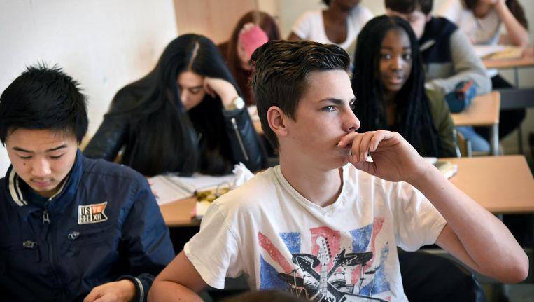 Op tijd beginnen met Engels onderwijs draagt ook bij aan de Nederlandse prestaties, concludeerden de onderzoekers al in 2011. Beeld Marcel van den Bergh/de Volkskrant