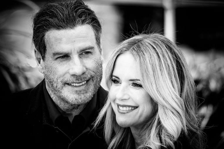 John Travolta en Kelly Preston in 2018 op de première van hun gezamenlijke film 'Gotti'