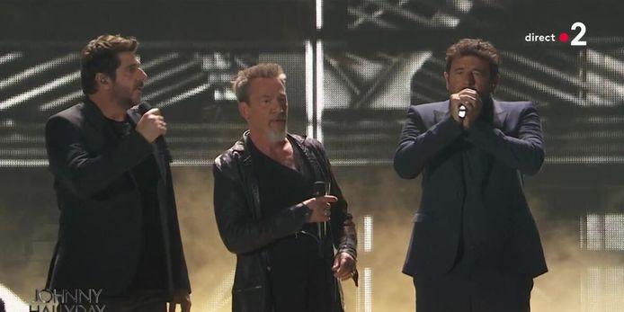 Patrick Fiori, Florent Pagny et Patrick Bruel ont rendu hommage à Johnny Hallyday.