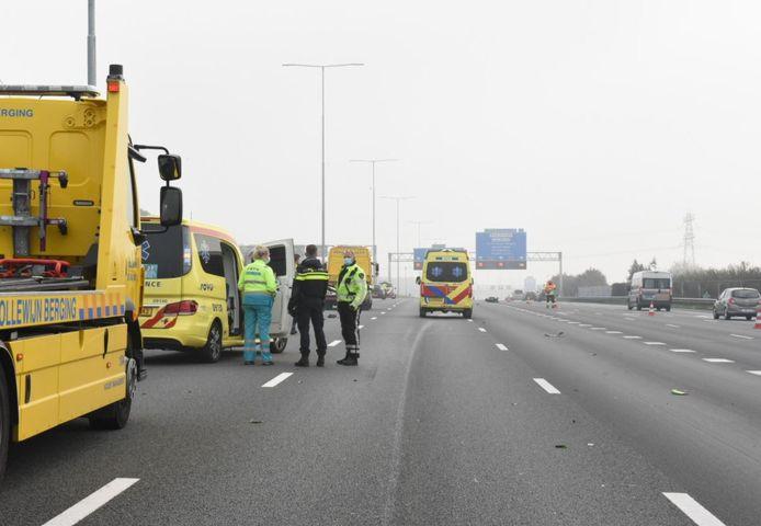 Motorrijder gewond na val op A12.