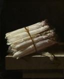 Schilderij Stilleven met asperges, van schilder Adriaen Coorte, 1697