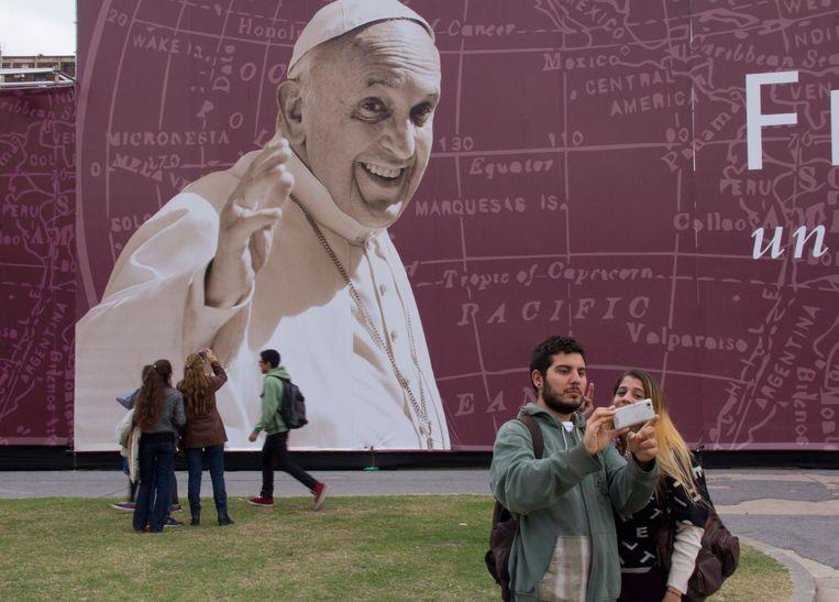 Een speciale expositie in 2014 over de Argentijn Paus Franciscus in Buenos Aires, Argentinië.  Beeld Hollandse Hoogte / Niels Wenstedt