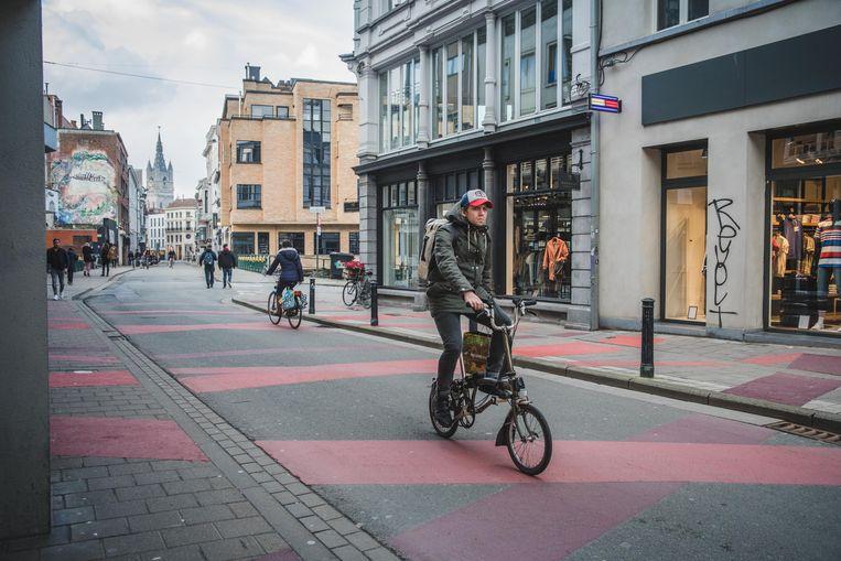 Gent is met zijn autoluw centrum een van de voorlopers wat fietsvriendelijker beleid betreft.  Beeld Wannes Nimmegeers