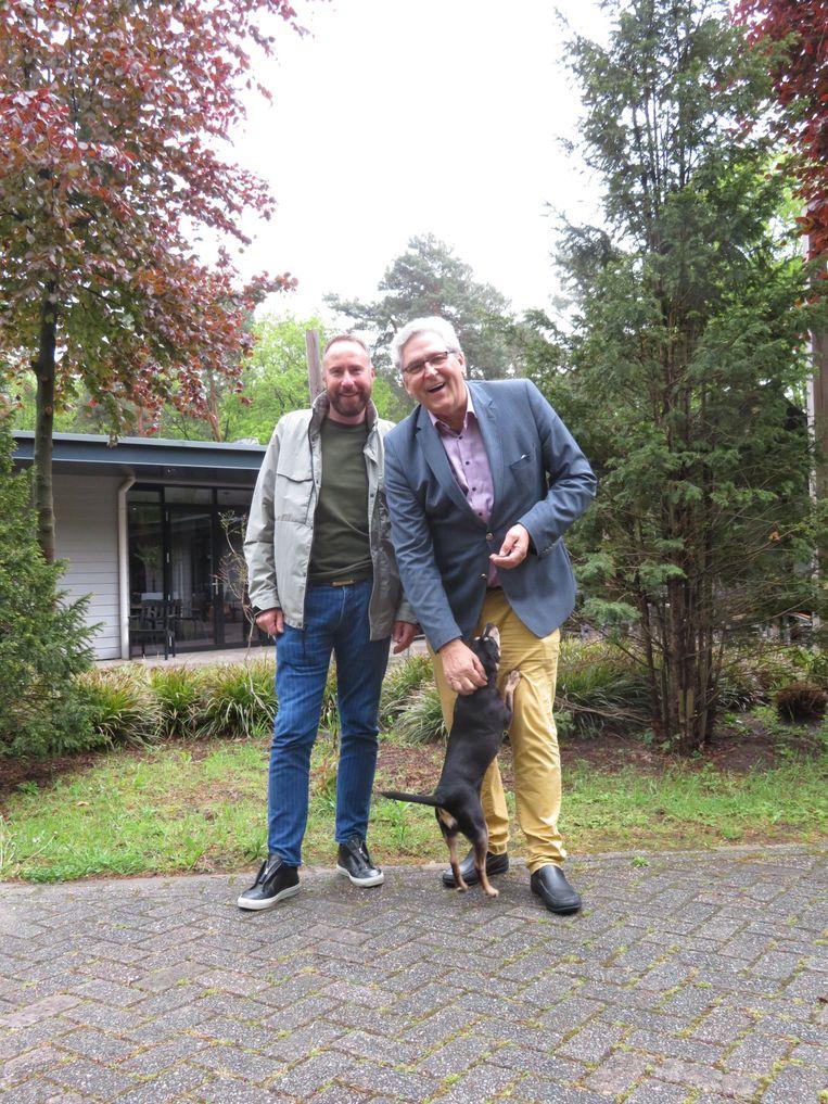 Aldo Koning, Henk Krol en hond Loeki Beeld