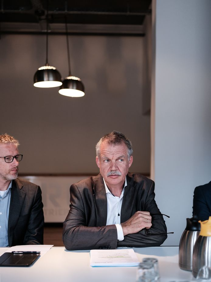 Peter van de Wardt tijdens een persconferentie over Laborijn in 2019.