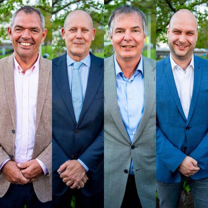 Jan Verbeek, Jan Hordijk, Daan de Haas en Jan Willem Schuurman.