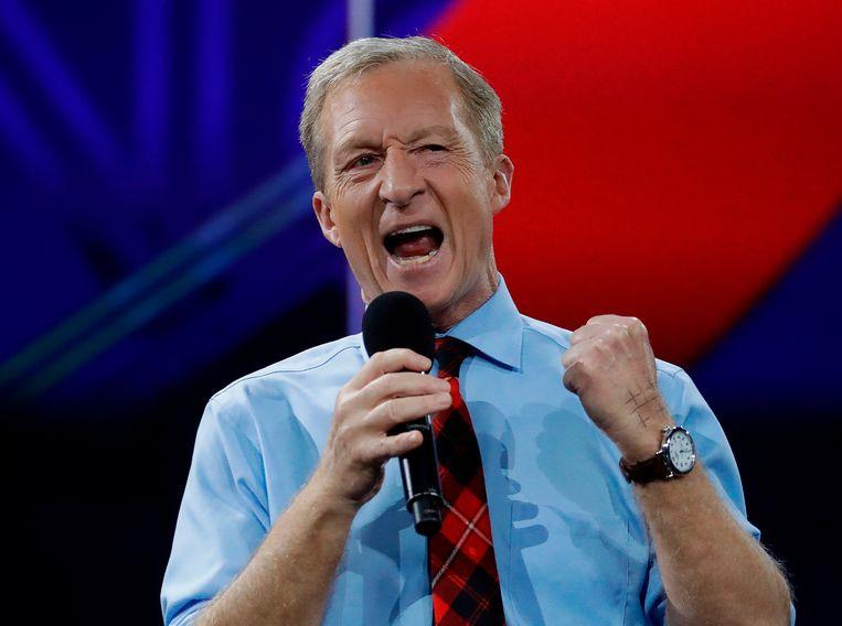 De Democratische presidentskandidaat Tom Steyer. Beeld AFP