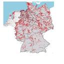 Windmolens in Duitsland en Nederland.