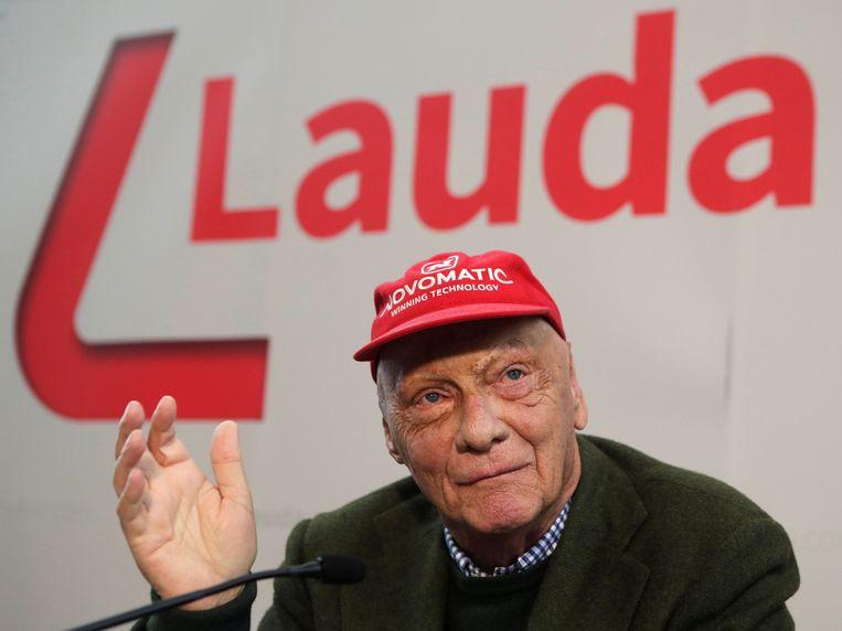 Niki Lauda in maart vorig jaar. Beeld REUTERS