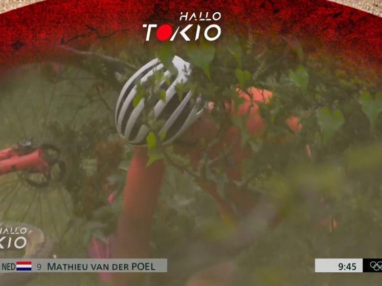 Bekijk hoe de olympische droom van Van der Poel in duigen valt