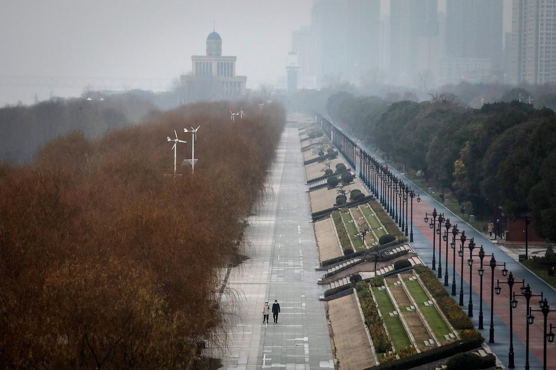 Het Jiangtan-park in Wuhan op 27 januari 2020. Enkele dagen eerder ging de Chinese stad op slot. Waarom toen pas, meer dan twintig dagen na de eerste bekende coronabesmettingen, vroeg Fang Fang zich af in haar dagboek. Beeld Getty