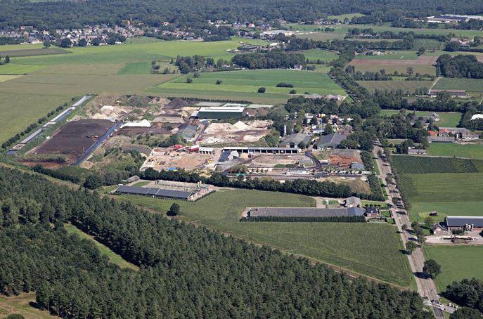 Luchtfoto ter illustratie