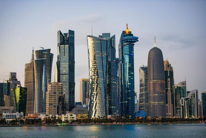 Doha, de hoofdstad van Qatar.