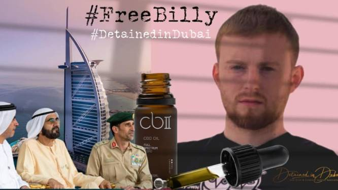 Brit (24) moet 25 jaar brommen in Dubai na vondst flesjes cannabisolie