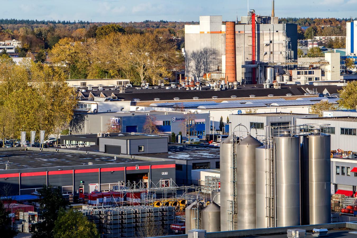 Industriegebied Kloosterlanden in Deventer. De regionale economische groei komt voor een belangrijk deel door de industrie.