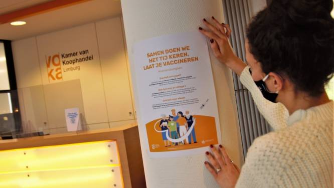 Voka - KvK Limburg lanceert campagne om vaccineren aan te moedigen