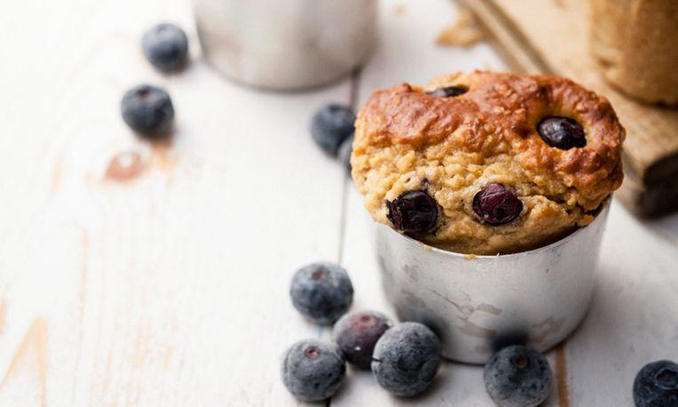 havermout-bosbessen-muffin