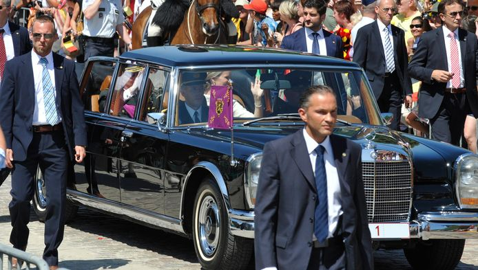 De limousine werd nog gebruikt in 2013, bij de inauguratie van koning Filip.